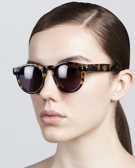 Illesteva Leonard Round Sunglasses, Tortoise