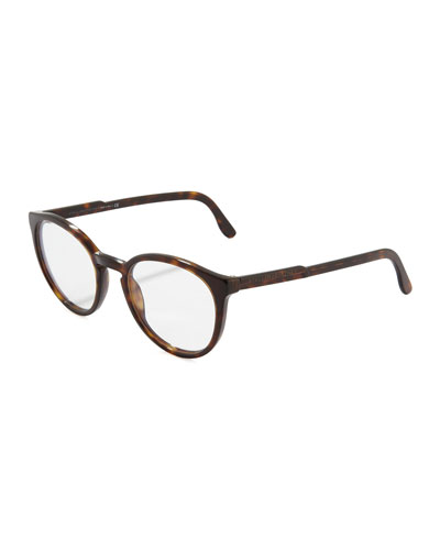 Round Fashion Glasses, Dark Tortoise