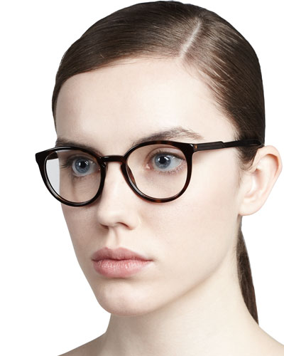 Stella McCartney Round Fashion Glasses, Dark Tortoise