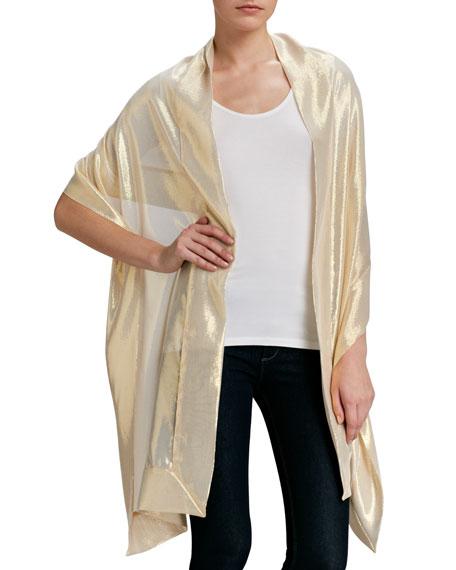 Metallic Silk Stole, Gold