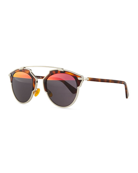 Dior So Real Brow Bar Sunglasses, Havana