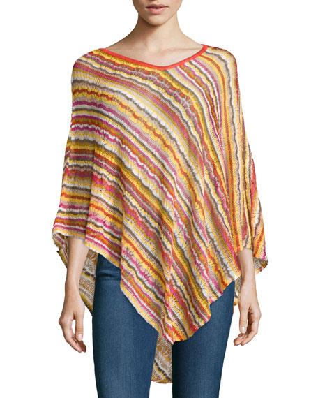 Missoni Striped Knit Asymmetric Poncho