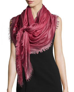 Metallic Evening Stole, Rose