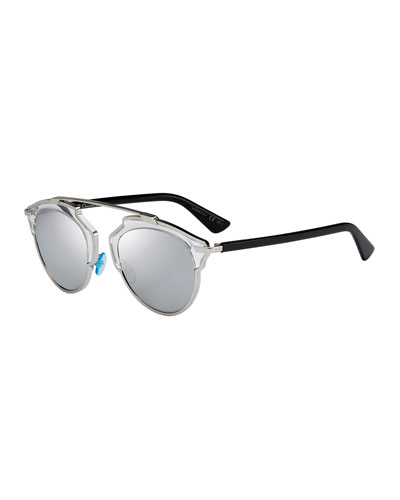 So Real Brow Bar Sunglasses, Silver