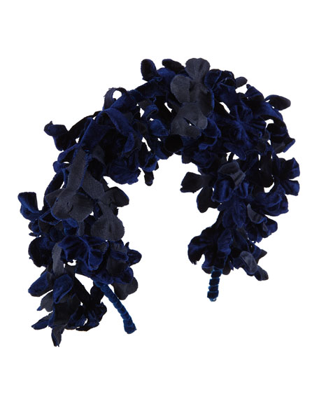 Hyacinth Branch Velvet Headband