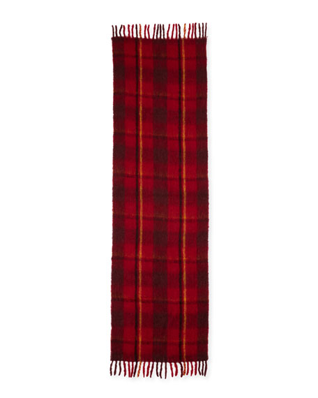 Blanket Plaid Knit Scarf