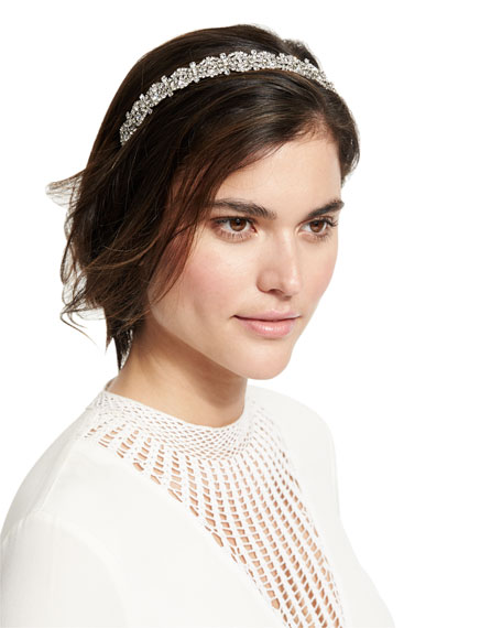 Jennifer Behr Natalia Crystal Flower Headband