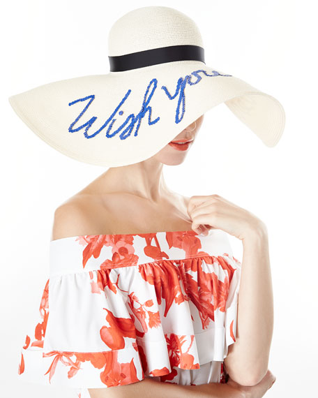 Sunny Floppy Sun Hat, Ivory