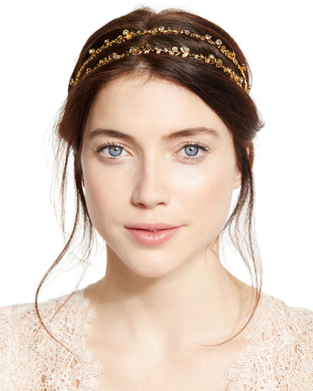 Jennifer Behr Coralie Crystal Double Head Wrap