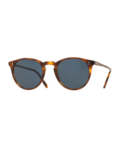 O'Malley NYC Peaked Round Sunglasses, Tortoise