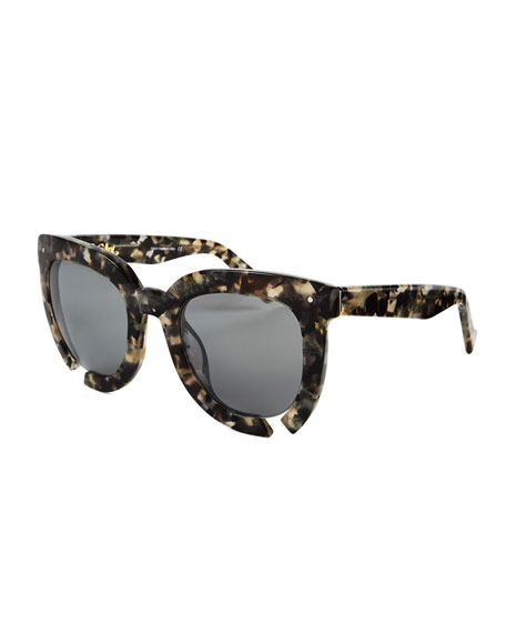 Incidental Notched Square Sunglasses