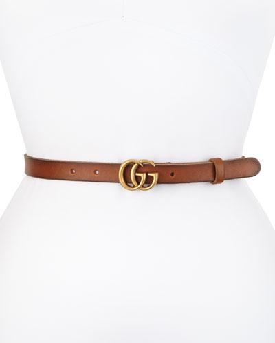 Thin GG Leather Belt