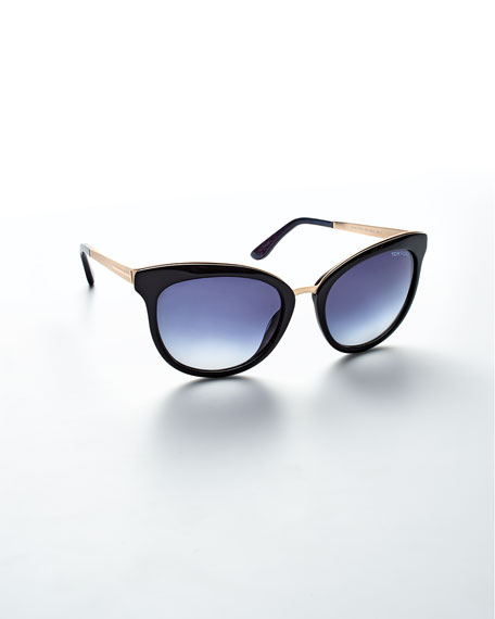 Emma Gradient Frame Cateye Glasses : TOM FORD Emma Gradient Cat-Eye Sunglasses