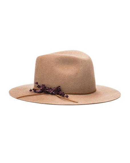 Eugenia KimGeorgina Embellished Felt Hat, Camel