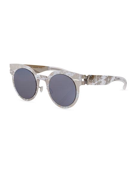 MYKITA + Maison Margiela Transfer Rounded Square Sunglasses,