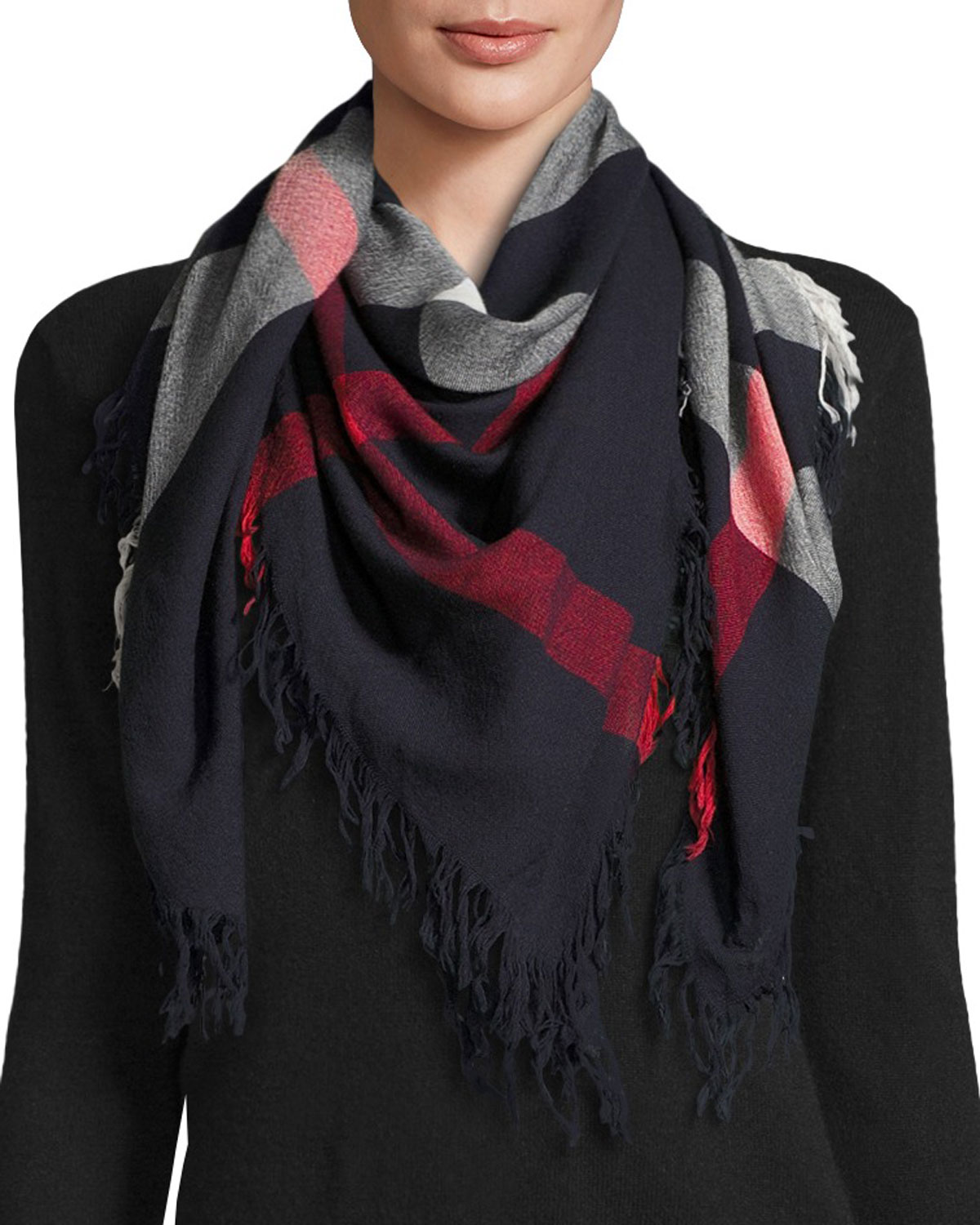 Burberry Color Check Wool Scarf 8a7c014d21
