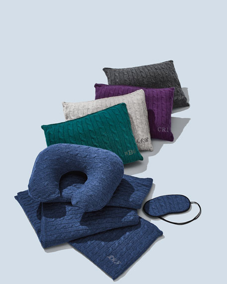 Cashmere Cable-Knit Travel Gift Set