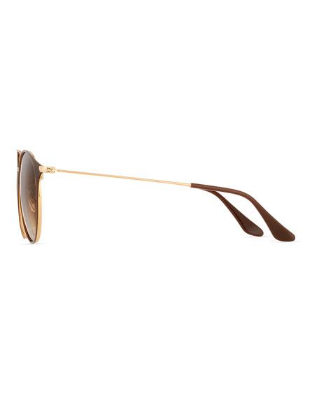 Gradient Round Double-Bridge Sunglasses