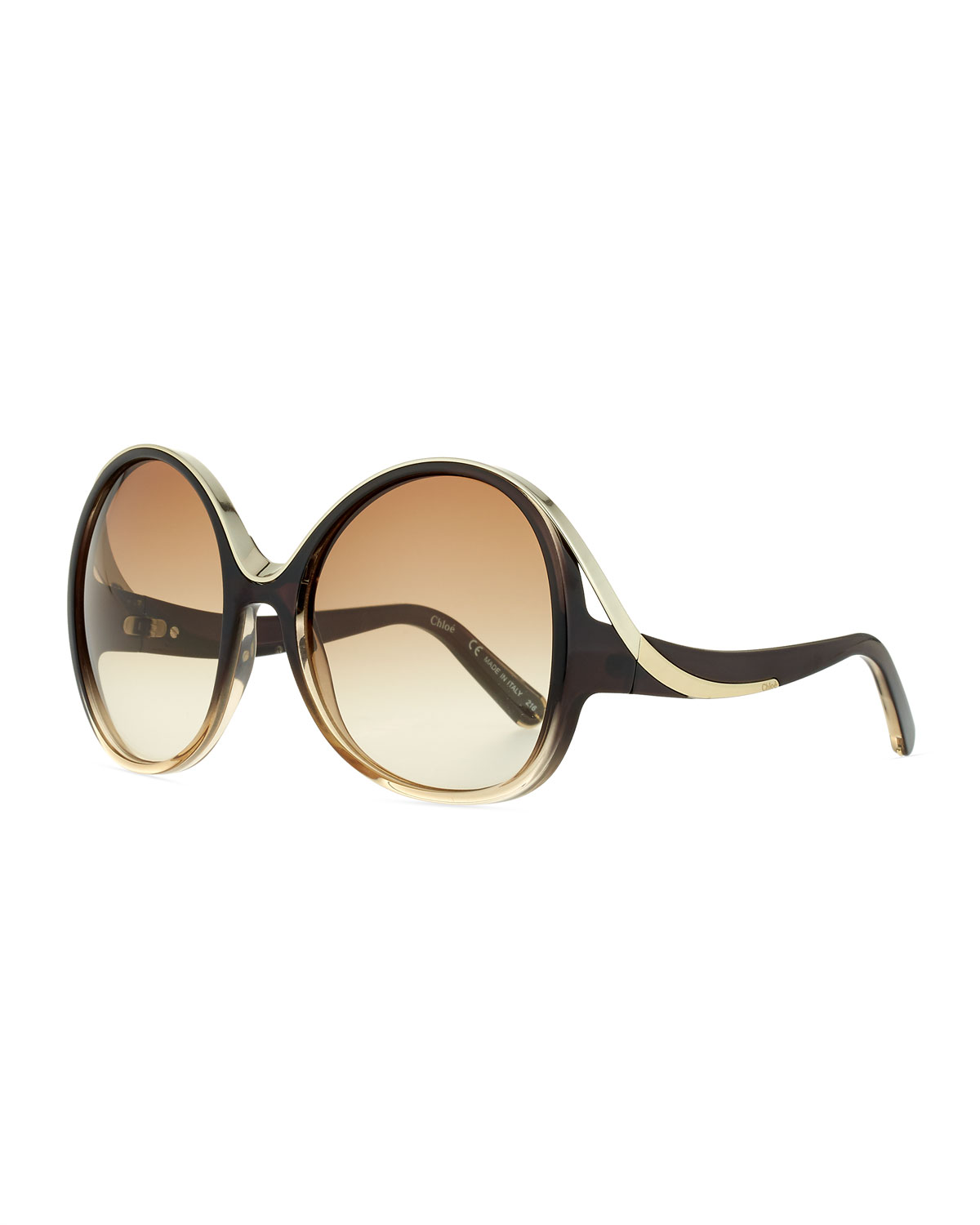 9f224b31198 Chloe Mandy Oval Acetate Sunglasses