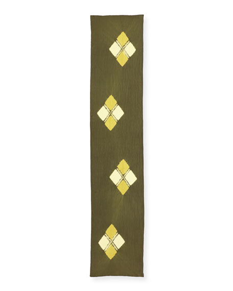 Emblems Silk Shibori Scarf