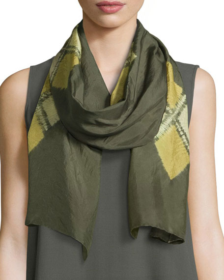 Eileen Fisher Emblems Silk Shibori Scarf and Matching