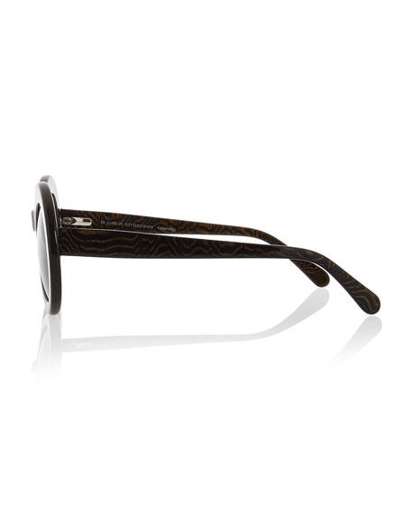 San Francisco Transparent Oval Sunglasses