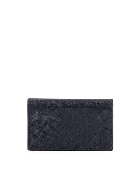 Greca Saffiano Flap Card Case