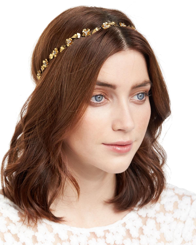 Jennifer Behr Margaux Flower   Leaf Bandeau Headband  7f4ce79da1a