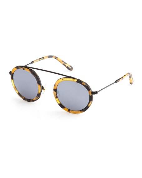 KREWE Conti Matte Mirrored Aviator Sunglasses