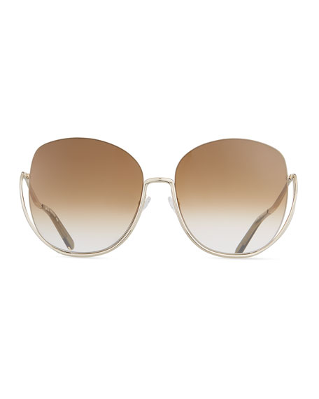 Milla Square Semi-Rimless Sunglasses