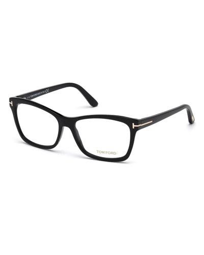designer optical frames ewq2  Square Optical Frames, Black