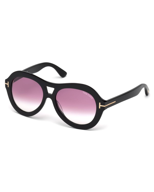 c25888a36c3f TOM FORD Isla Chunky Aviator Sunglasses