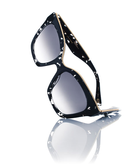 Square Beaded Sunglasses
