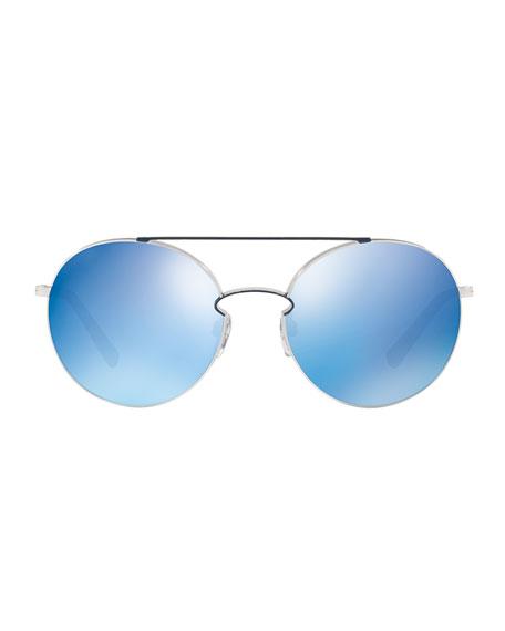 Rockloop Round Metal Sunglasses