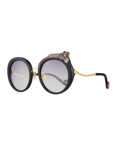 Rose et la Roue Round Sunglasses
