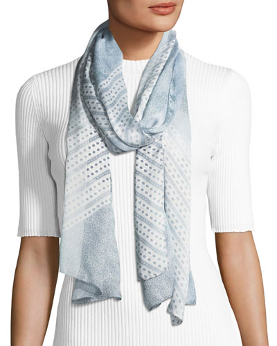 Ultra Wash Mega Check Silk Scarf