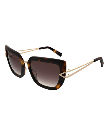 Bianca Split-Temple Cat-Eye Sunglasses