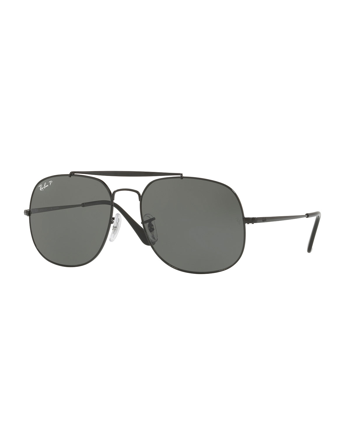 95dbe79ef2 Ray-Ban The General Polarized Aviator Sunglasses