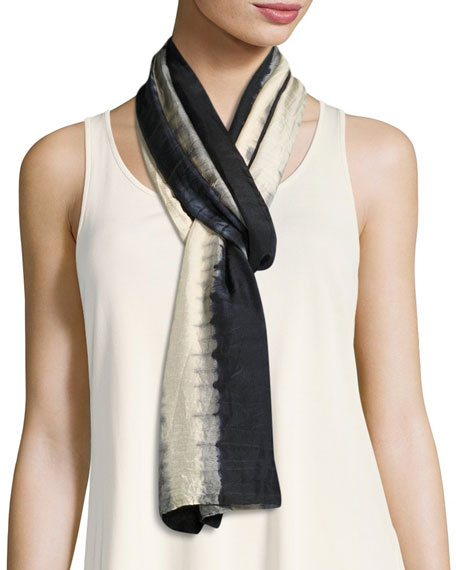 Eileen Fisher Shibori Tracks Silk Scarf