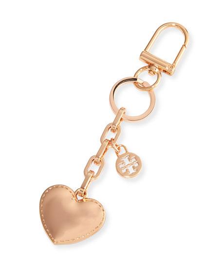 Tory Burch Logo Heart Metal Key Fob