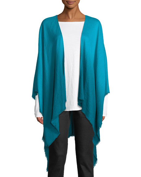 Eileen Fisher Ombre Wool/Silk Wrap