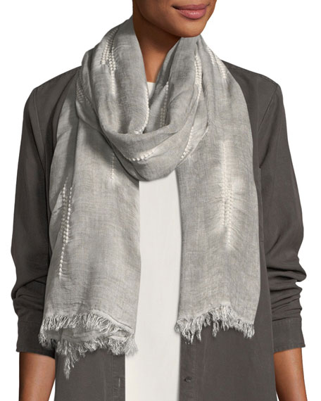 Eileen Fisher Maltinto Embroidered Scarf