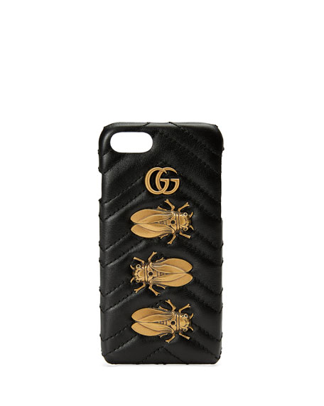 Matelassé Leather Moth iPhone 7 Case