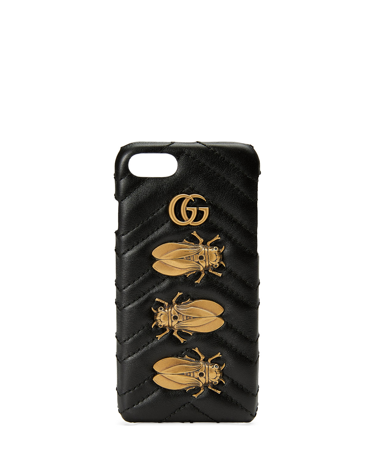 29114a4498a Gucci Matelassé Leather Moth iPhone 7 Case