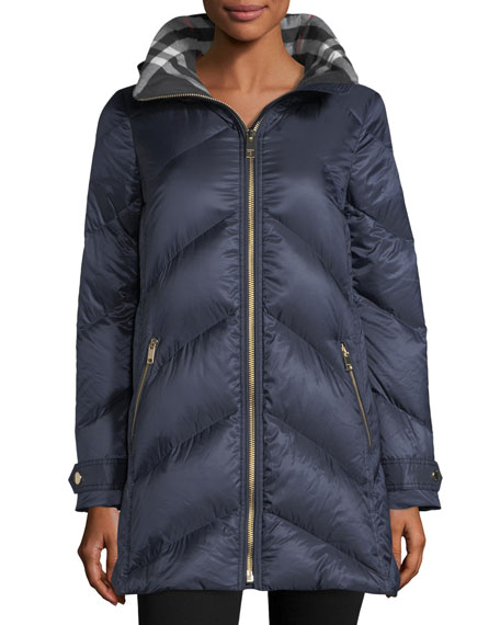 Burberry Chevron Quilted Puffer Jacket