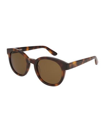 Round Monochromatic Sunglasses  Brown Pattern