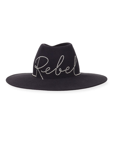 Harlowe Embellished Rebel Wool Hat