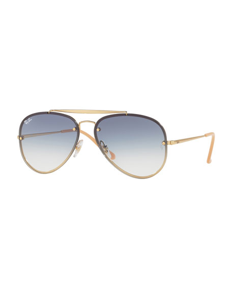 BLAZE AVIATOR RB 3584N 001/19 61MM GOLD AVIATOR SUNGLASSES