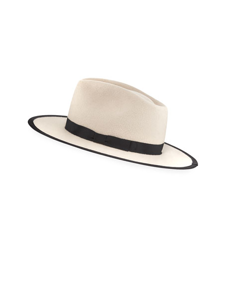 Gladys Tamez Cher Two-Tone Felt Panama Hat