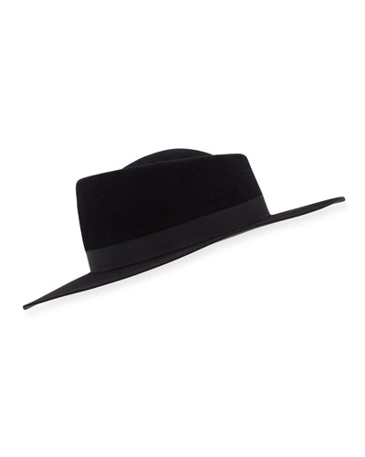 Audrey Wide Felt Hat